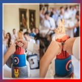 Hochzeitstortenmesser mit zwei Griffen